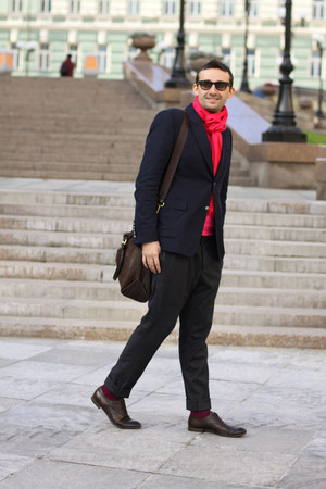 maroon Topman socks - crimson Gucci boots - navy Gucci jacket