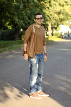 Topman sweater - G-Star jeans - Jil Sander bag - Ray Ban sunglasses