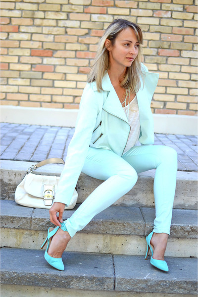 light blue Vero Moda jeans - aquamarine Qupid shoes