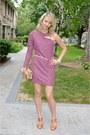Pink-bcbgeneration-dress-camel-kenneth-cole-purse-tawny-michael-kors-heels