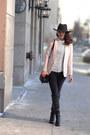 Black-over-the-knee-nine-west-boots-black-lola-jeans-black-h-m-hat