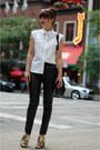 Black-vegan-leather-h-m-pants-black-faux-mule-zara-heels