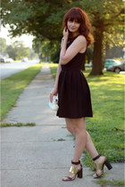 black Zara sandals