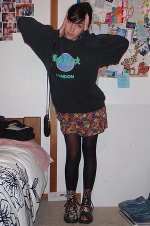 Hard Rock Cafe sweater - Sydney dress - Docs boots - Sportsgirl accessories