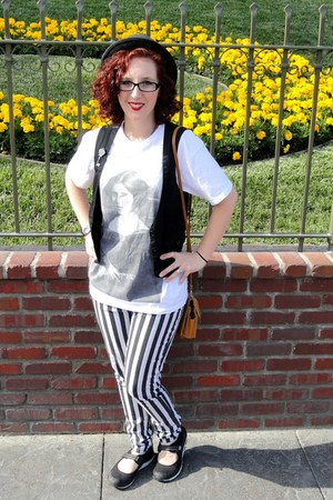 Princess Leia Shirt t-shirt - pork pie hat hat - black vest vest