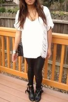 shred shirt - f21 pants - vintage accessories - gojanecom boots - DIY accessorie