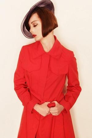 vintage coat - vintage hat