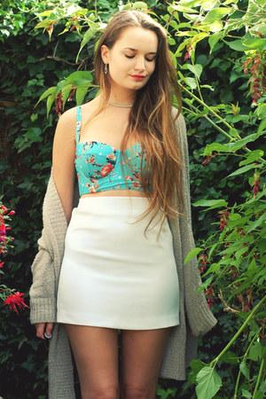 House of Fraser top - new look skirt