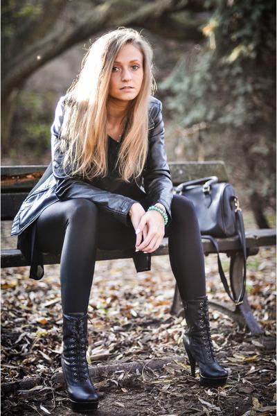 black Forever 18 jacket - black Tally Weijl leggings - black Butik bag