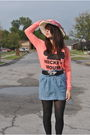 Pink-urban-outfitters-sweater-blue-urban-outfitters-skirt-pink-salvation-arm