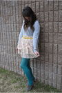 Gray-banana-republic-sweater-white-target-skirt-target-tights-yellow-salva