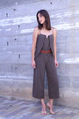 Halston-romper-banana-republic-heels-banana-republic-belt