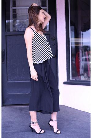 Zara top - bcbg max azria heels - Brochu Walker pants