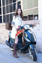 Valentino boots - banana republic top - Tahari skirt