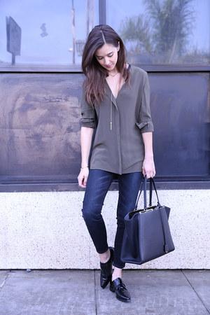 Fendi bag - Zara shoes - madewell jeans - vince top