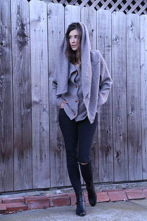 LK Bennett boots - madewell jeans - Anthropologie sweater
