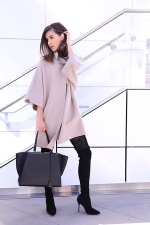 Manolo Blahnik boots - Harris Wharf London coat