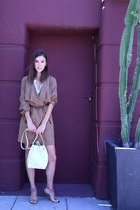 Anthropologie jacket - Mansur Gavriel bag - banana republic heels