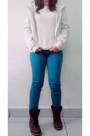 turquoise blue pants