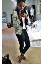 black Accessorize blazer - black Forever 21 jeans - light pink heels