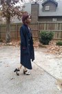 Navy-unknown-coat-dark-gray-leather-urban-outfitters-skirt