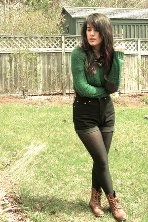 second hand shorts - H&M sweater - second hand blouse