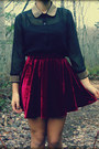 Stella-tweed-blouse-romwecom-skirt-jeffrey-campbell-heels