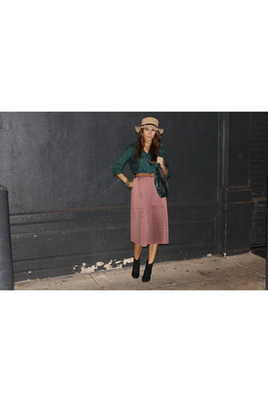 midi-skirt Staring at Stars skirt - carlos falchi bag - Zara belt