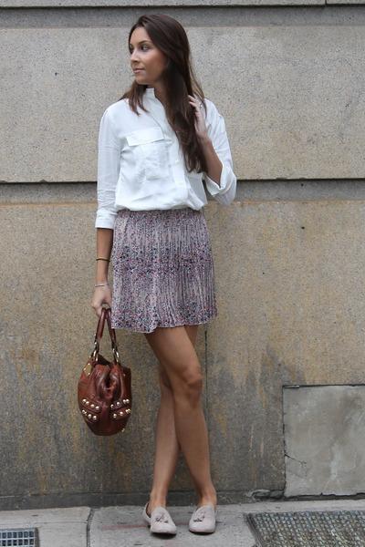 Dolce Vita flats - linea pelle bag - Gap blouse - Forever 21 skirt