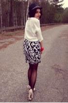 second hand skirt - deezee shoes - reserved hat - Bershka shirt