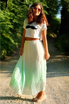 aquamarine PERSUNMALL skirt - white PERSUNMALL t-shirt