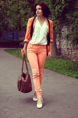 pull&bear pants - OASAP blazer - Bershka shirt