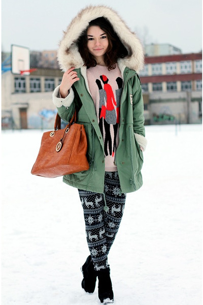 Sheinside coat - no name sweater
