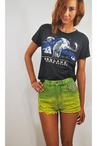 cotton vintage t-shirt - vintage reconstructed shorts