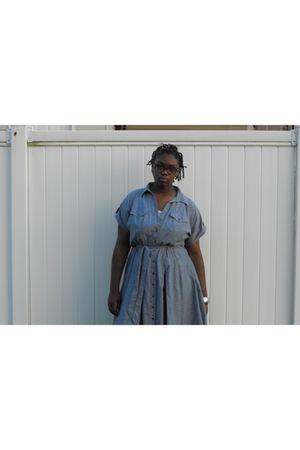 blue Walmart dress