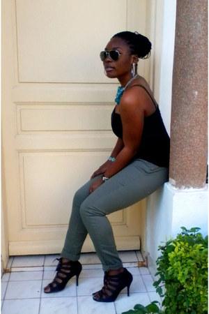 H&M pants - Pimkie top - ANDRE heels - necklace
