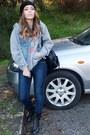 Primark-jeans-silver-sweater-black-blanco-bag-jean-chicnova-vest