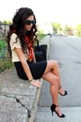 Black-zara-bag-black-zara-heels-black-chanel-glasses