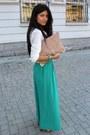 Nude-asos-bag-bronze-zara-heels-white-stradivarius-blouse