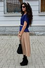 Bershka-boots-sisley-bag-zara-blouse-bershka-skirt-stradivarius-bracelet