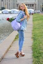 white Topshop shoes - light blue Mango jeans - light blue Zara jacket