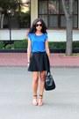 Black-zara-bag-brown-mango-sunglasses-burnt-orange-zara-heels