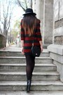 Black-zara-boots-brick-red-zara-dress-black-zara-hat