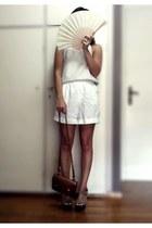 brown satchel Zara Kids bag - white Zara shorts