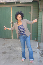 ny & co blazer - vintage shirt - Hudson jeans - Urban Outfitters shoes