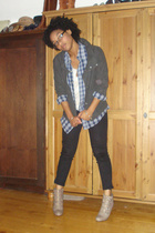 Urban Outfitters jacket - thrifted shirt - forever 21 jeans - Nine West shoes