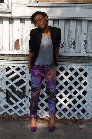 blazer - f21 shirt - Talonalia accessories - Ralph Lauren Collection pants - Rep