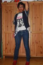 vintage t-shirt - YSL vest - Geroge Cox shoes