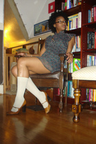 forever 21 dress - socks - emporio armani shoes