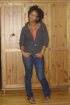 Urban Outfitters jacket - forever 21 shirt - Charlotte Russe jeans - H&M necklac